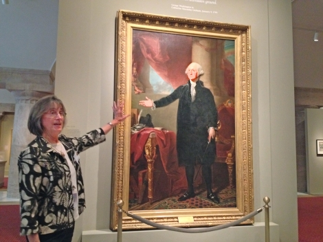 A docent at Washington D.C.'s Portrait Gallery
