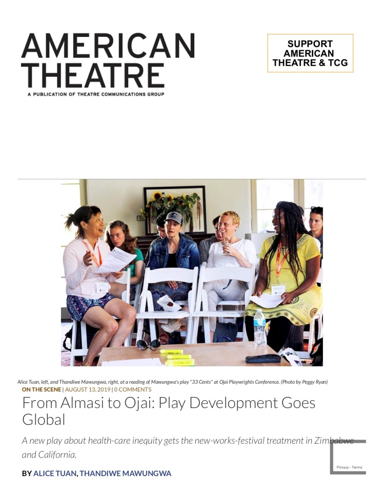 AMERICAN THEATRE | From Almasi to Ojai- Play Development Goes Global