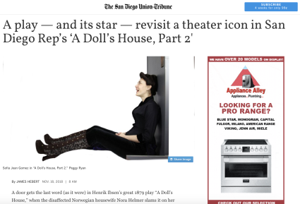 A Doll's House, Part 2 at San Diego REP